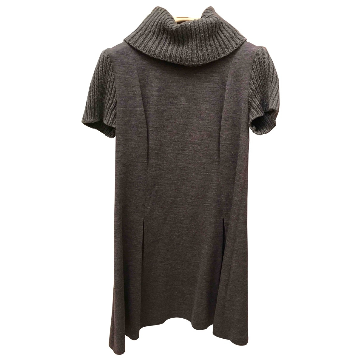 Brunello Cucinelli \N Kleid in  Grau Wolle