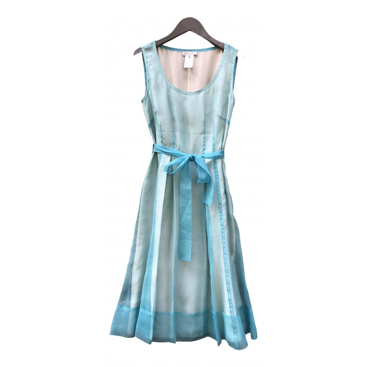 Celine - Robe   pour femme en soie - turquoise