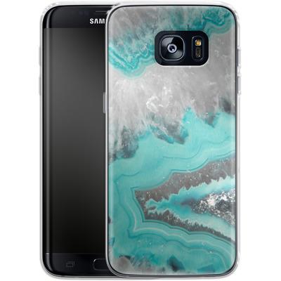 Samsung Galaxy S7 Edge Silikon Handyhuelle - Water Agate von Emanuela Carratoni