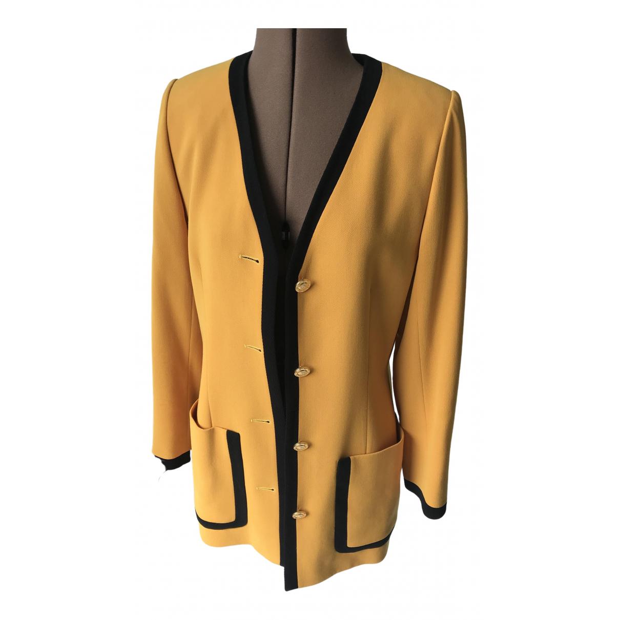 Celine - Veste   pour femme en laine - jaune