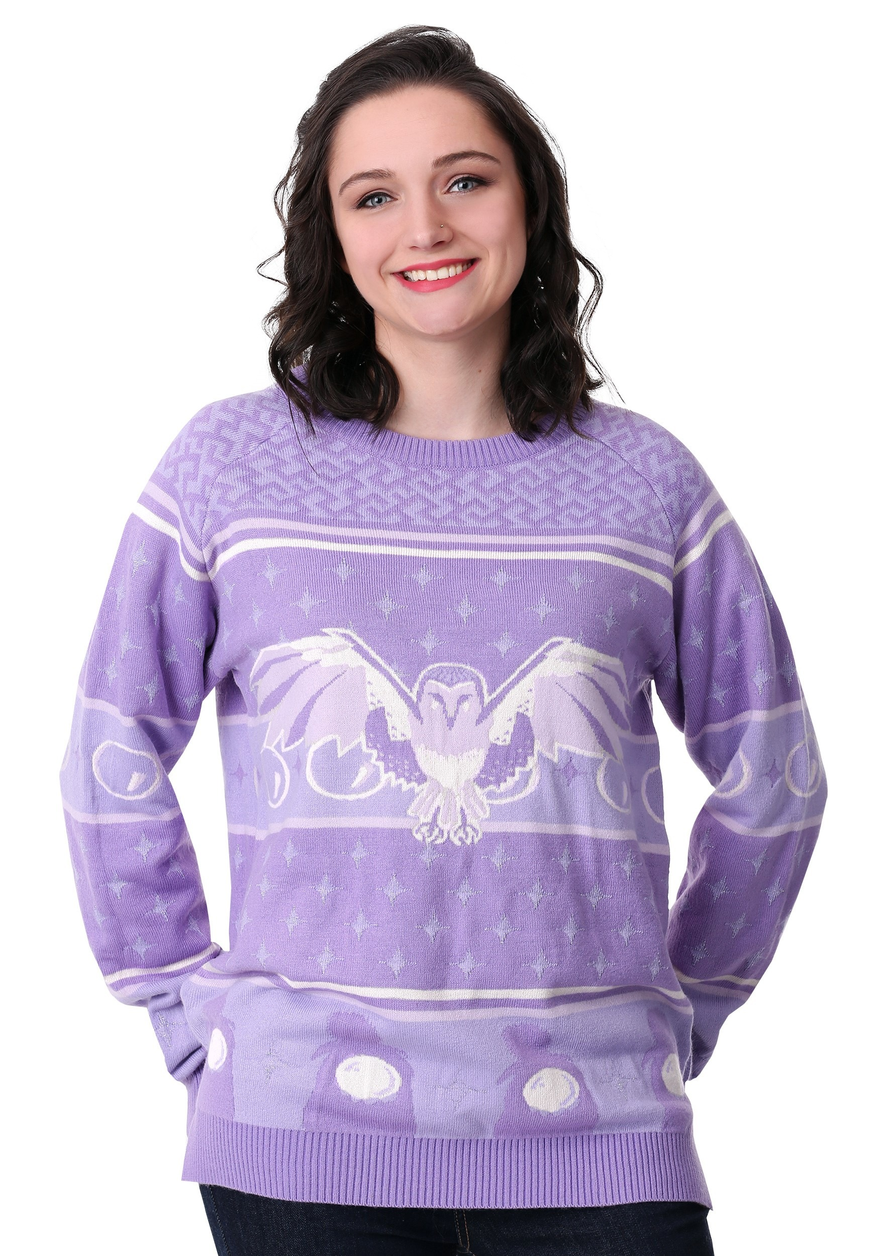 Hi-Lo Labyrinth Owl Ugly Women's Christmas Sweater