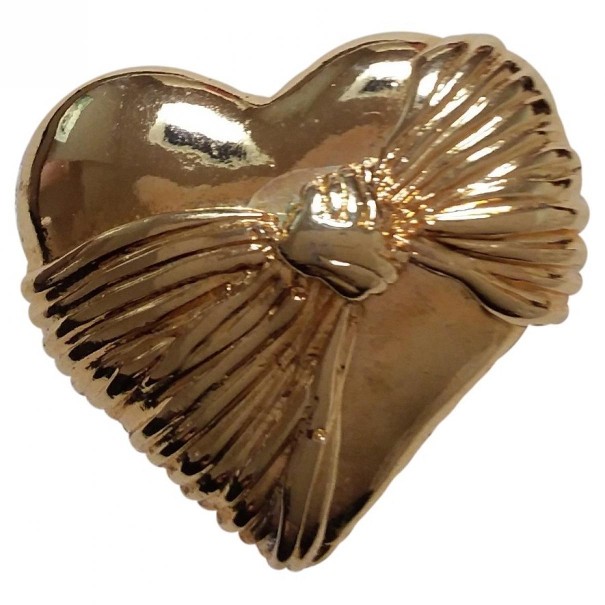 Broche en Metal Dorado Loris Azzaro