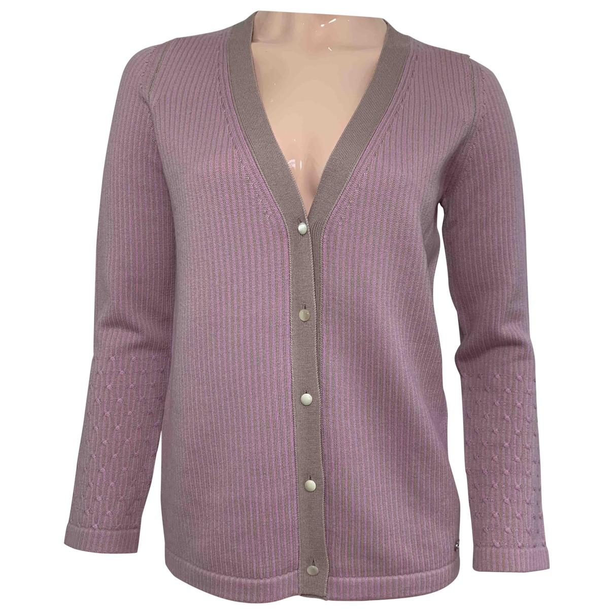 Salvatore Ferragamo - Pull   pour femme en laine - rose