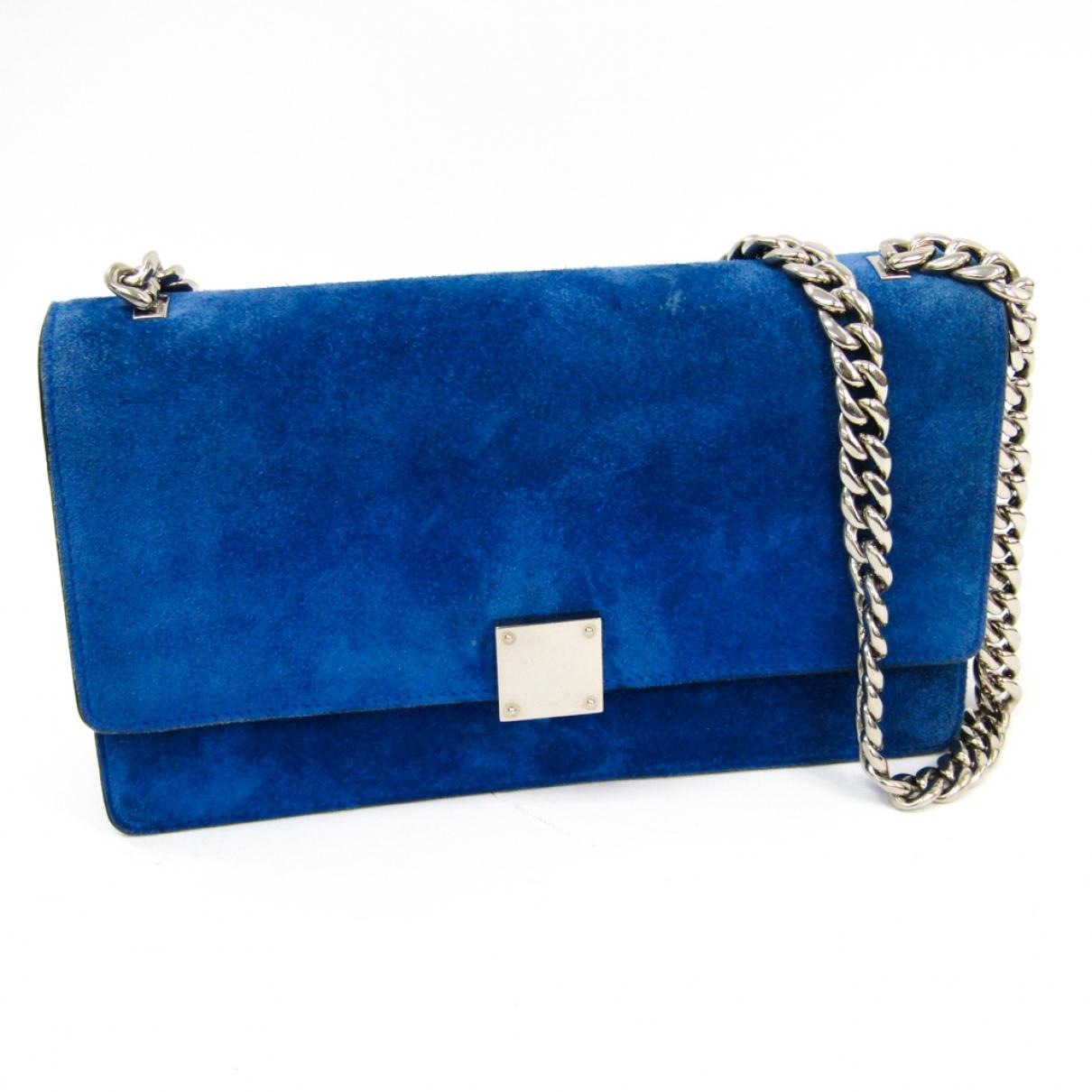 Celine \N Blue Suede handbag for Women \N