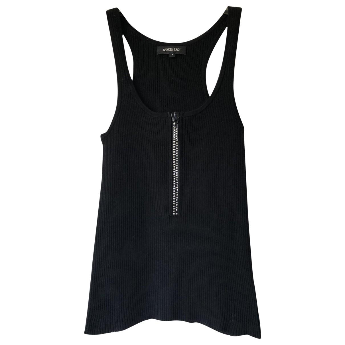Georges Rech - Top   pour femme en coton - noir