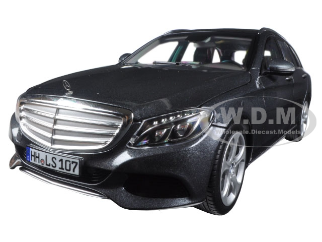 2014 Mercedes C Class T-Wagon Grey Metallic 1/18 Diecast Model Car by Norev