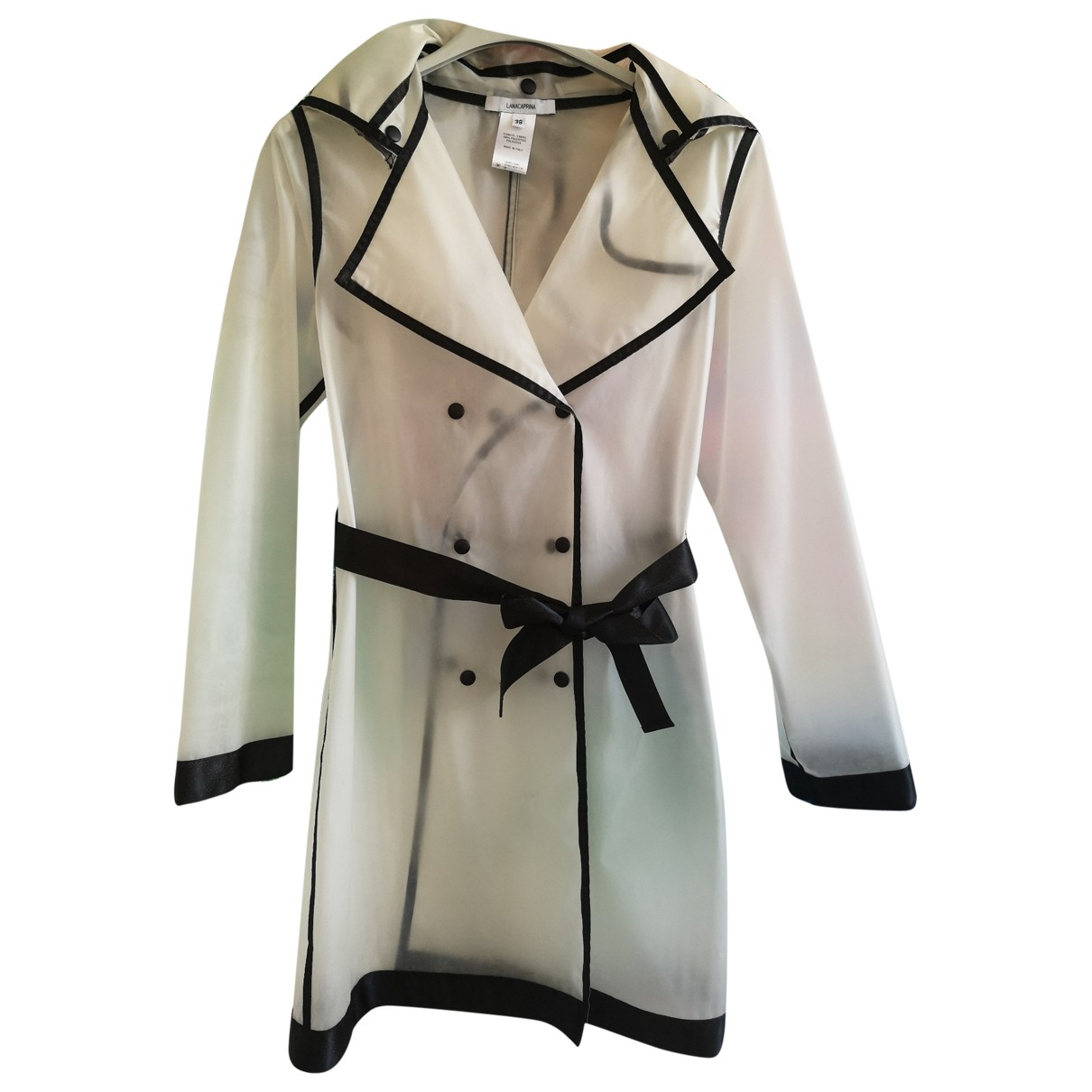 Non Signe / Unsigned \N Trench in  Weiss Polyester