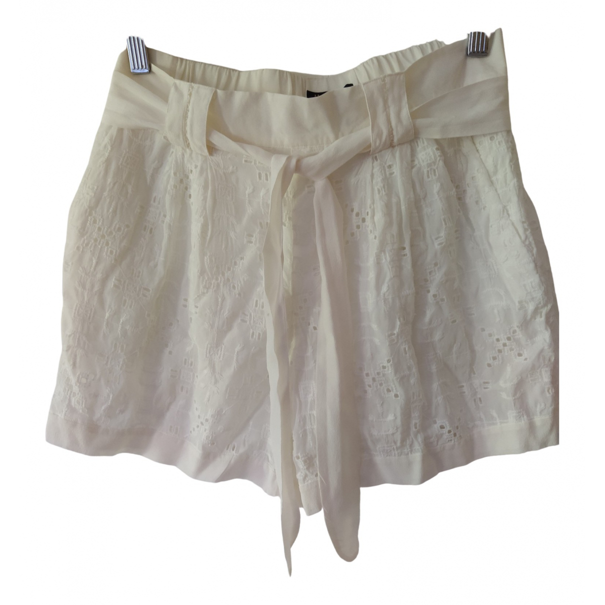 Massimo Dutti \N Ecru Shorts for Women 38 FR