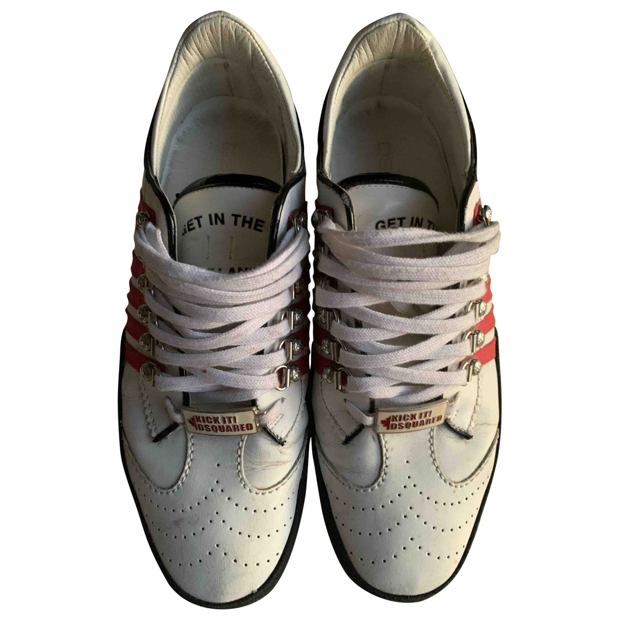 Dsquared2 251 Sneakers in  Weiss Leder