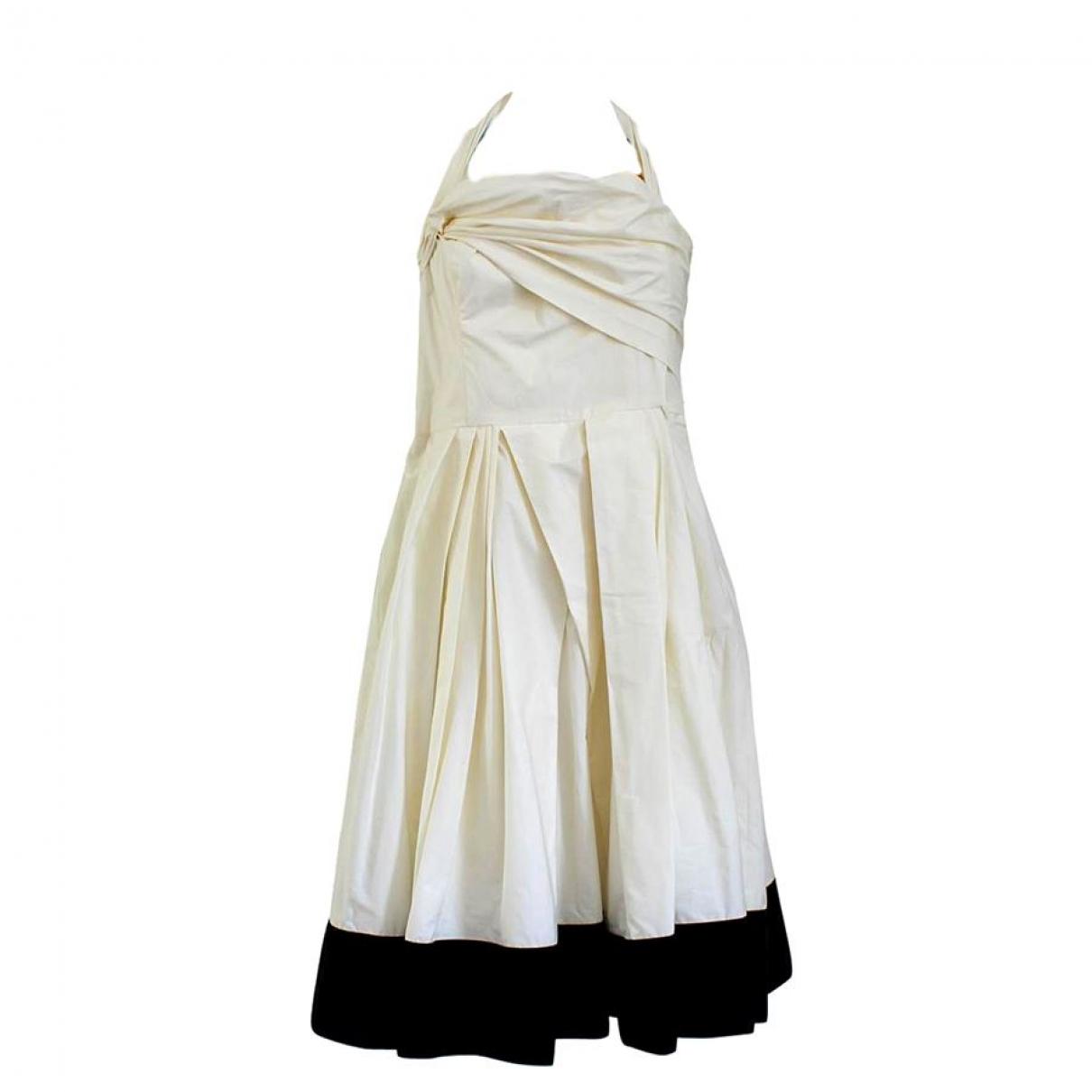 Aquilano Rimondi \N Kleid in  Weiss Baumwolle