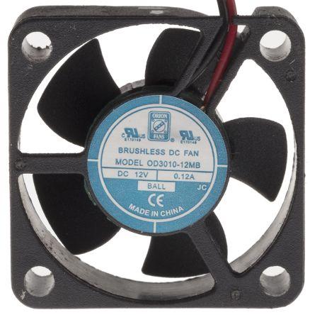 RS PRO , 12 V dc, DC Axial Fan, 30 x 30 x 10mm, 6.8m³/h, 1.8W