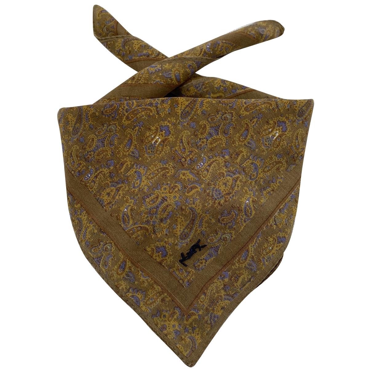 Yves Saint Laurent \N Camel Cotton scarf for Women \N