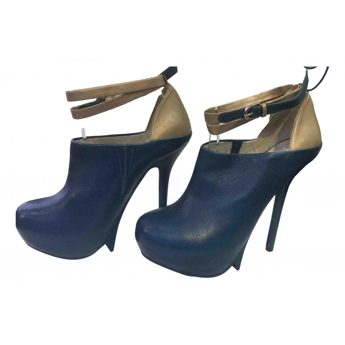Camilla Skovgaard \N Blue Leather Heels for Women 38 EU