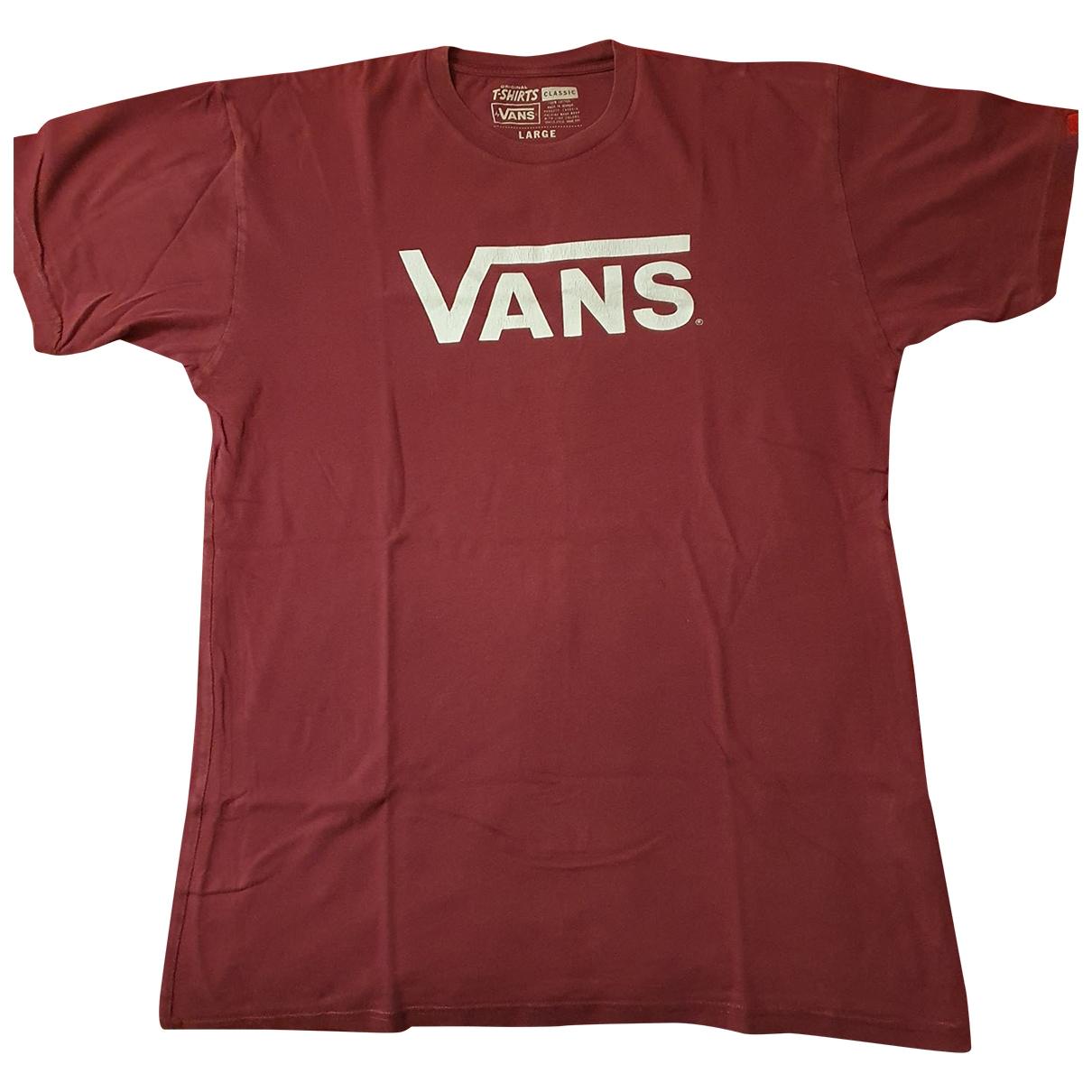 Vans \N T-Shirts in  Bordeauxrot Baumwolle