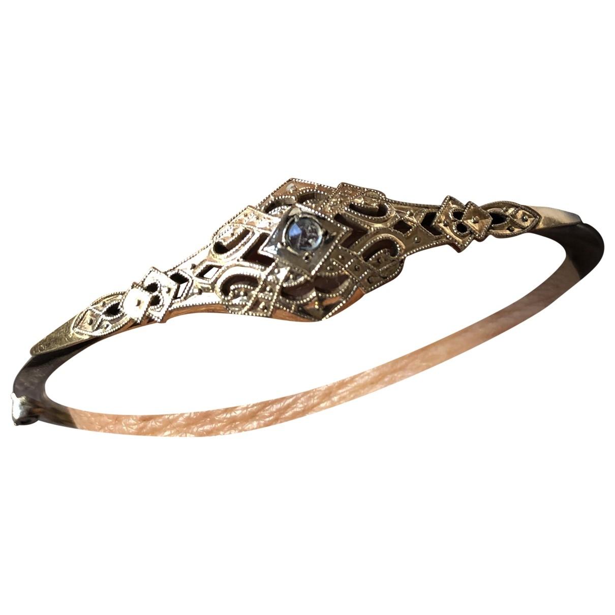- Bracelet Art Deco pour femme en plaque or