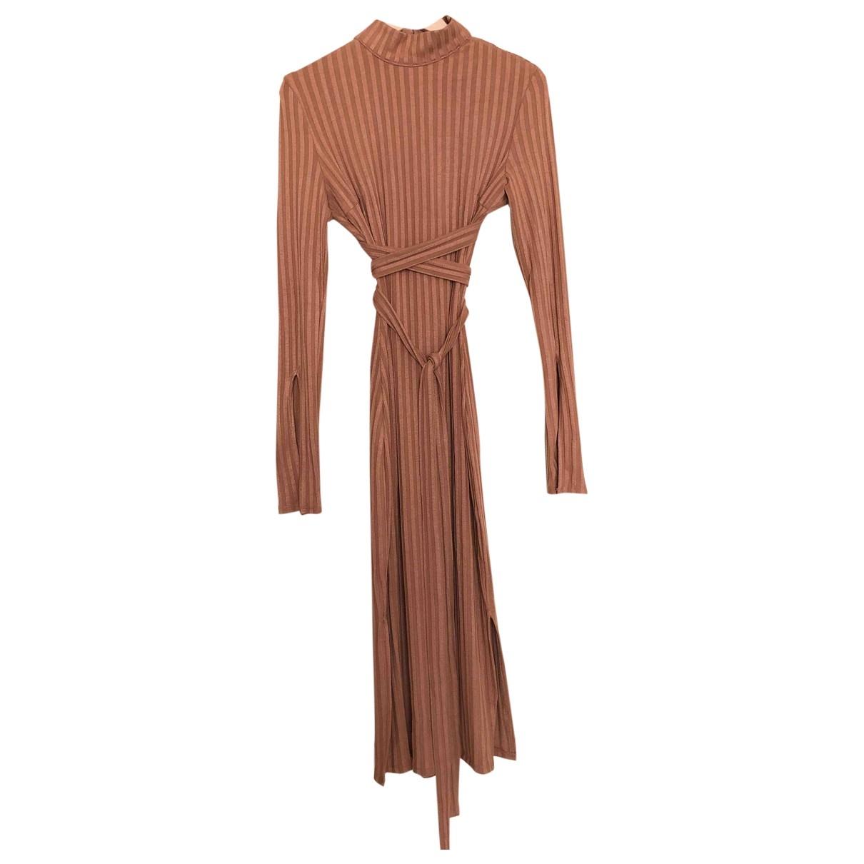 Non Signe / Unsigned \N Kleid in  Kamel Baumwolle