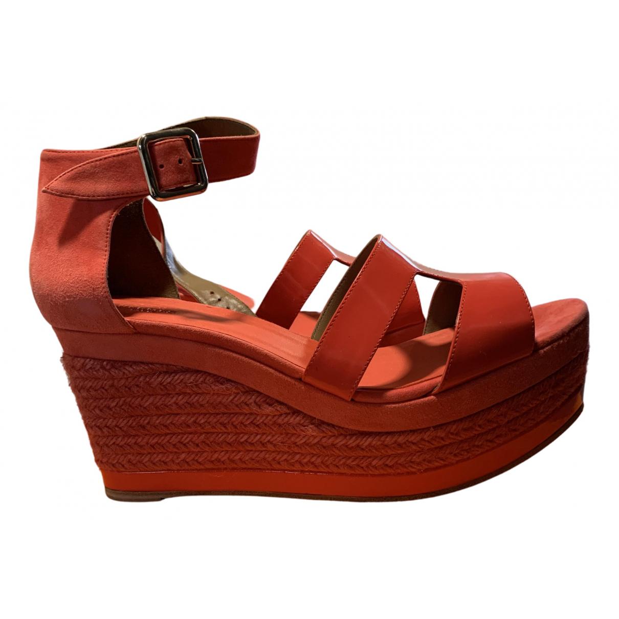 Hermes - Espadrilles Tilana pour femme en cuir verni - rose