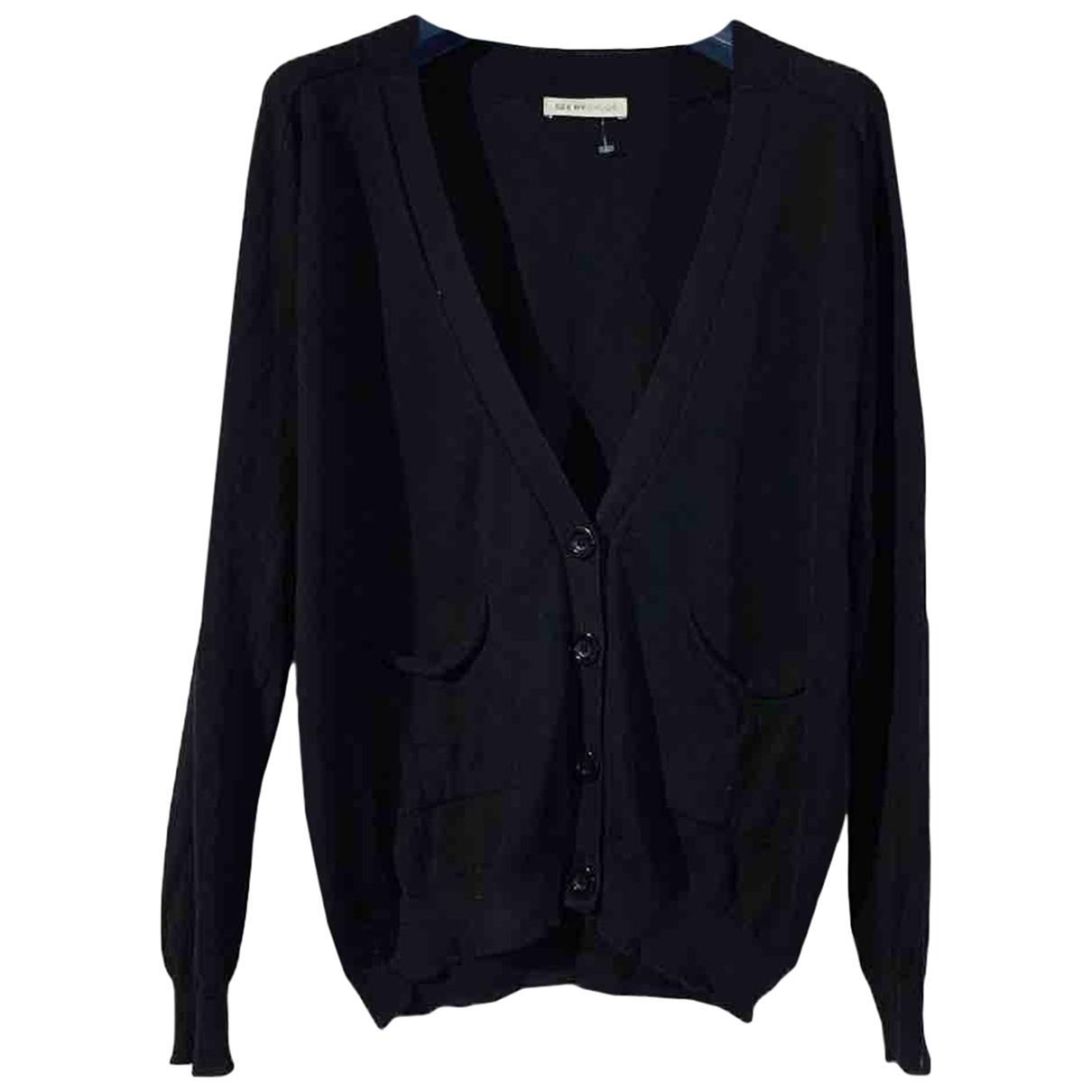 See By Chloe - Pull   pour femme en coton - noir