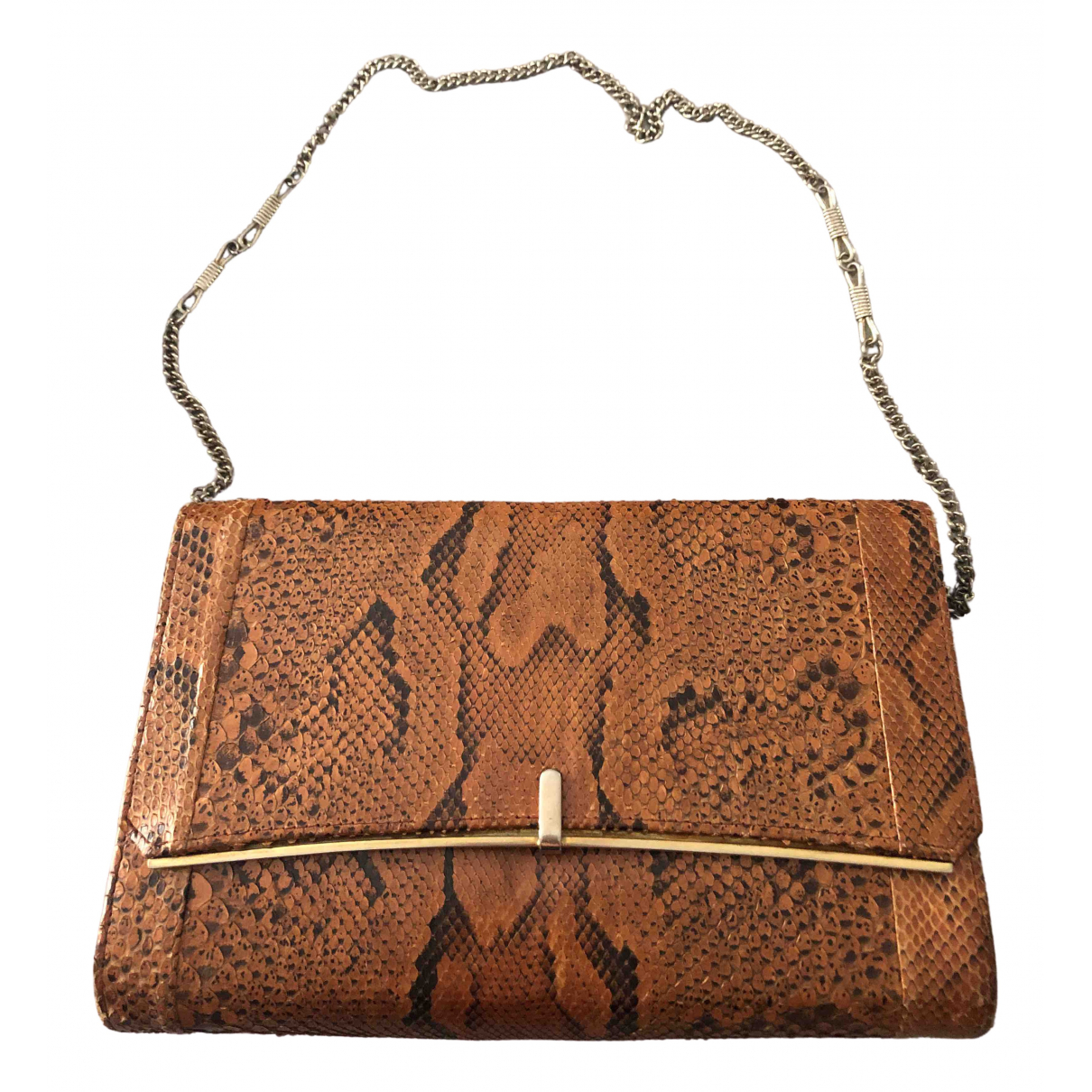 Non Signé / Unsigned \N Brown Exotic leathers Clutch bag for Women \N