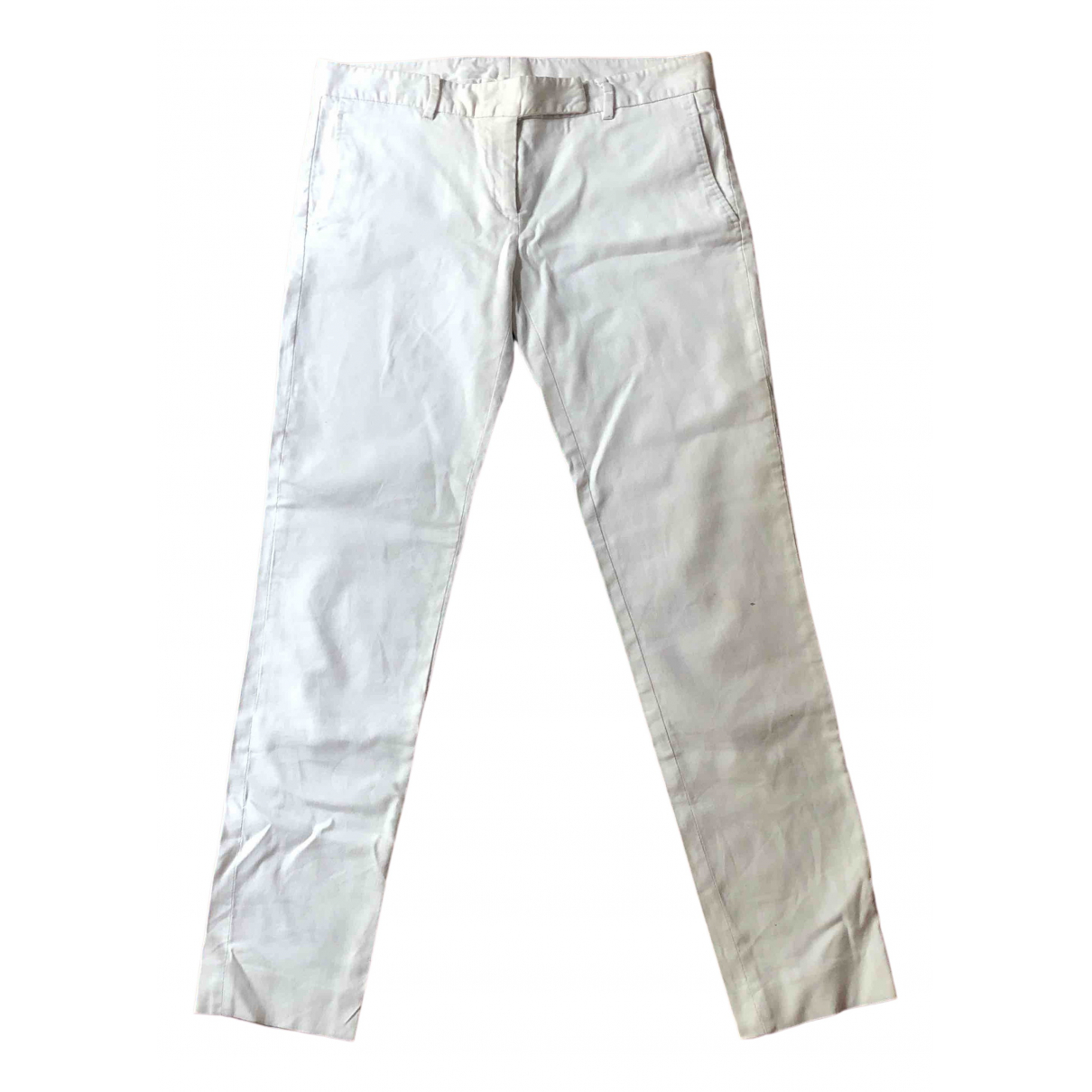 Mauro Grifoni \N White Cotton Trousers for Women 40 IT