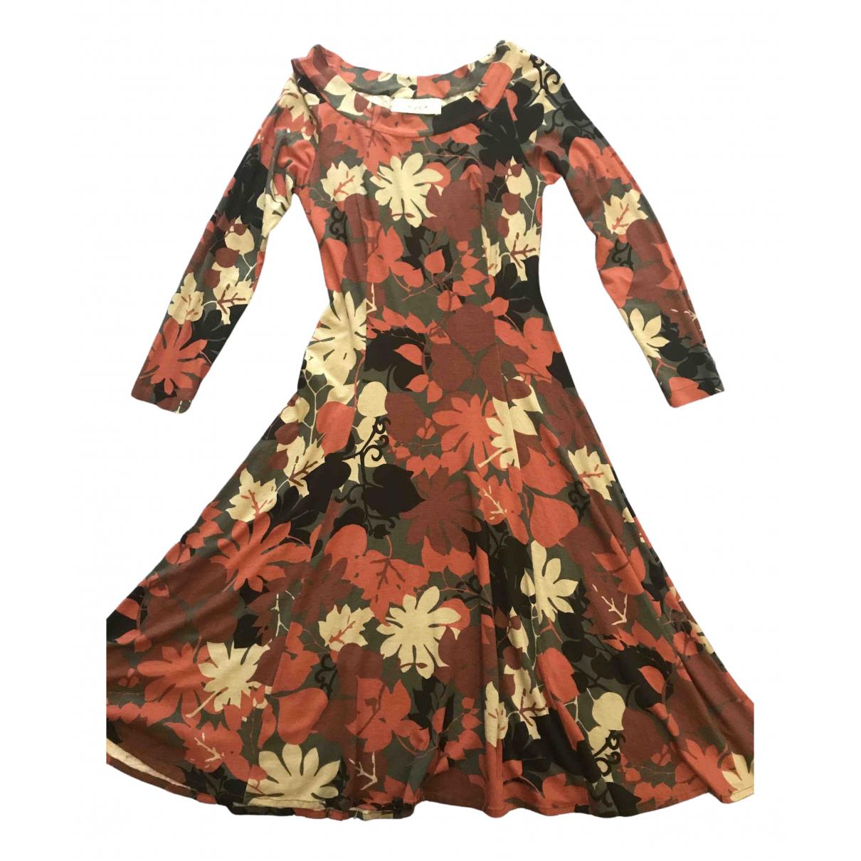 Non Signe / Unsigned \N Kleid in  Braun Viskose