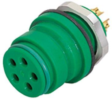 Binder Connector, 3 contacts Panel Mount Miniature Socket, Solder IP67