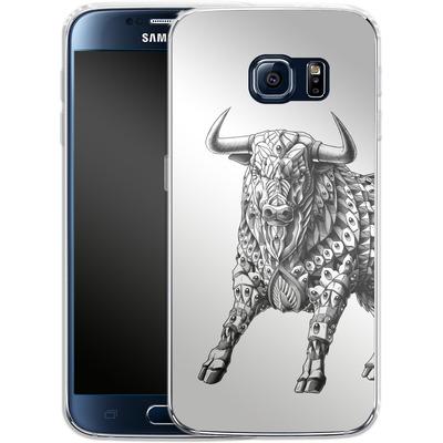 Samsung Galaxy S6 Silikon Handyhuelle - Raging Bull von BIOWORKZ
