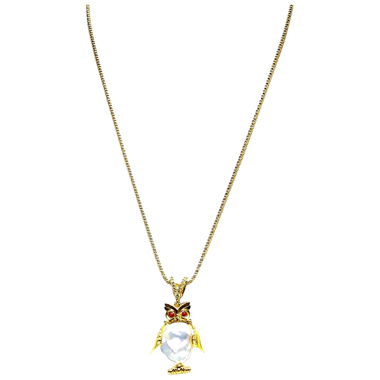 Non Signé / Unsigned Motifs Animaliers Gold Silver necklace for Women \N