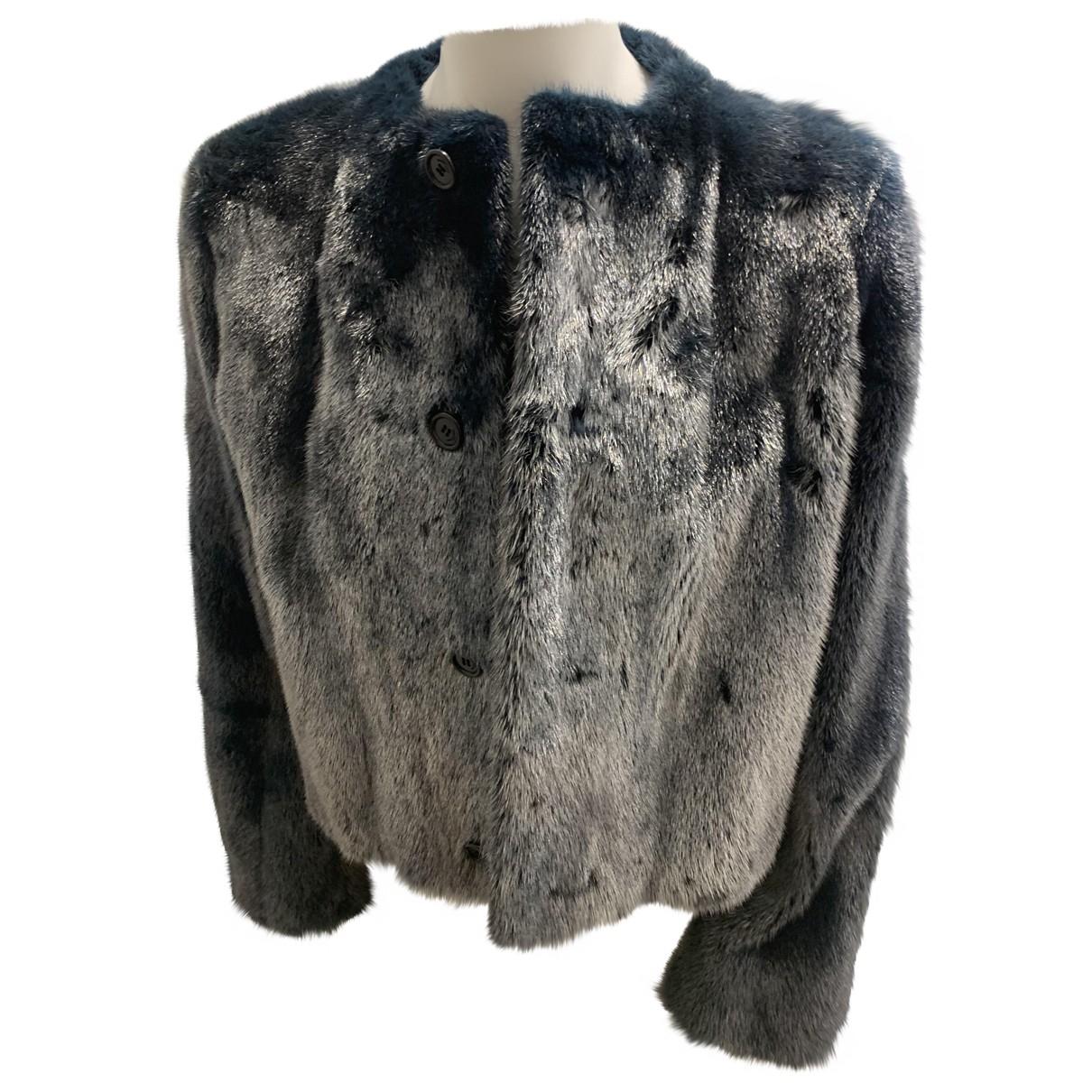 Saint Laurent \N Silver Mink jacket for Women 40 FR
