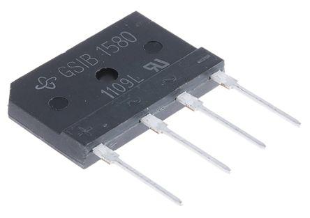 Vishay GSIB1580-E3/45, Bridge Rectifier, 3.5A 800V, 4-Pin GSIB-5S (2)