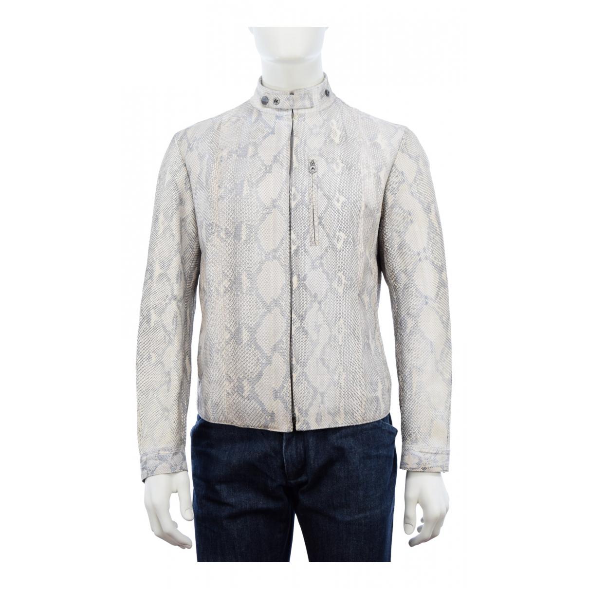 Salvatore Ferragamo N Beige Python jacket  for Men 50 IT