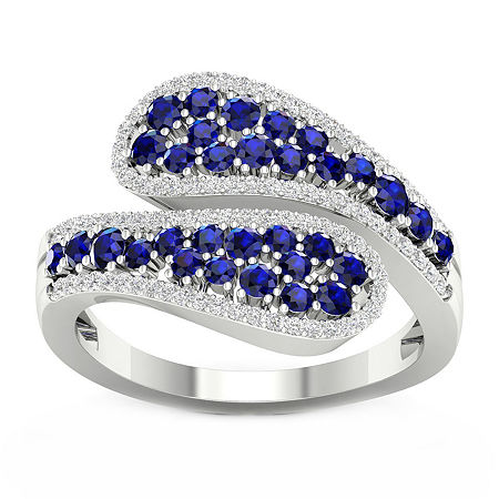 Womens 1/5 CT. T.W. Genuine Blue Sapphire 10K Gold Cocktail Ring, 9 , No Color Family