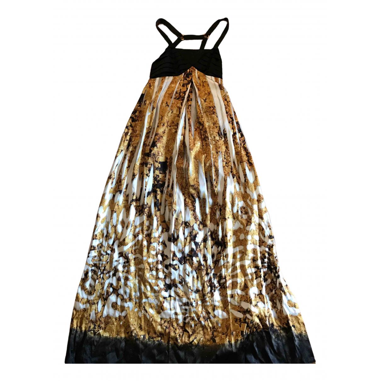 Just Cavalli - Robe   pour femme en soie - dore