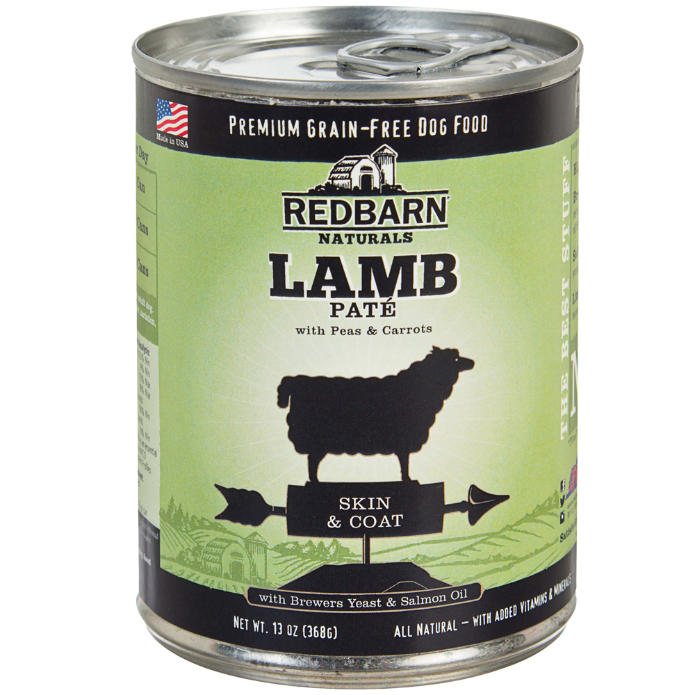 Redbarn Pate Skin & Coat Dog Food - Lamb (13 oz)