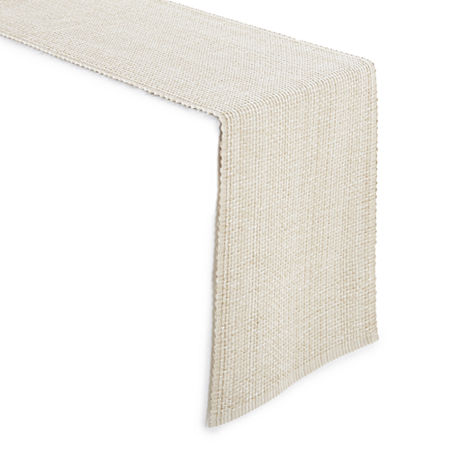 Homewear Homespun Table Runner, One Size , White