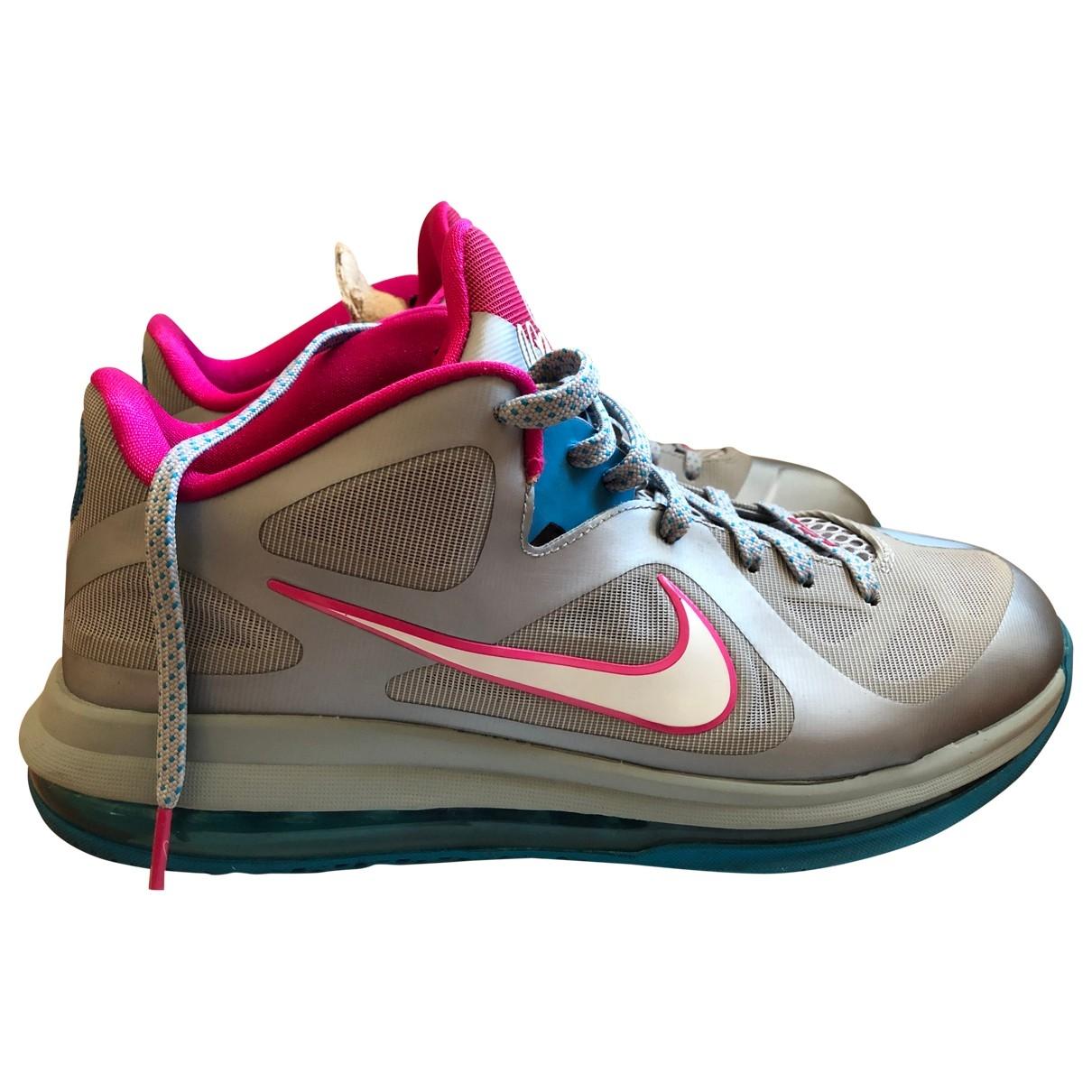 Nike - Baskets   pour homme en toile - argente