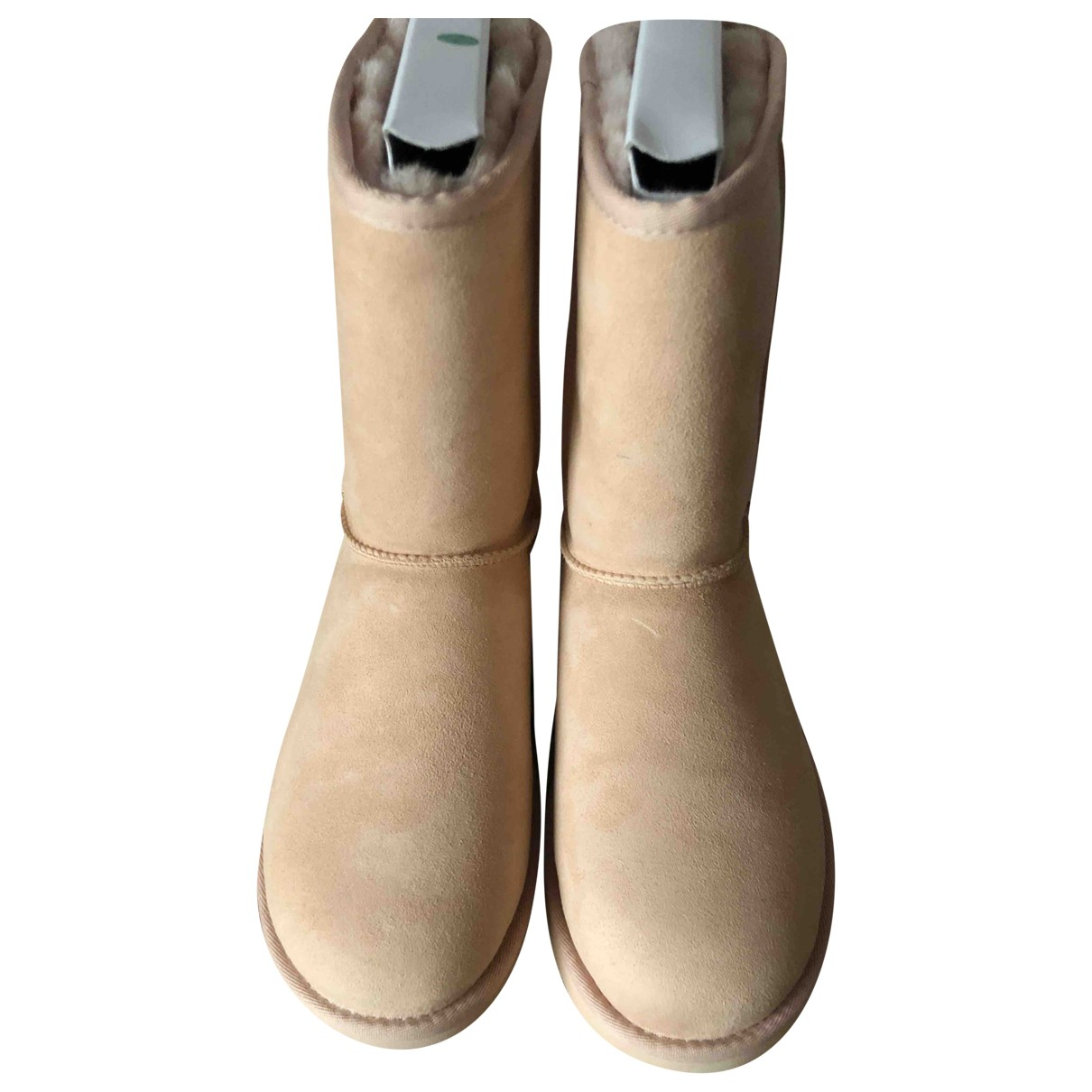 Ugg N Pink Suede Boots for Women 8 UK
