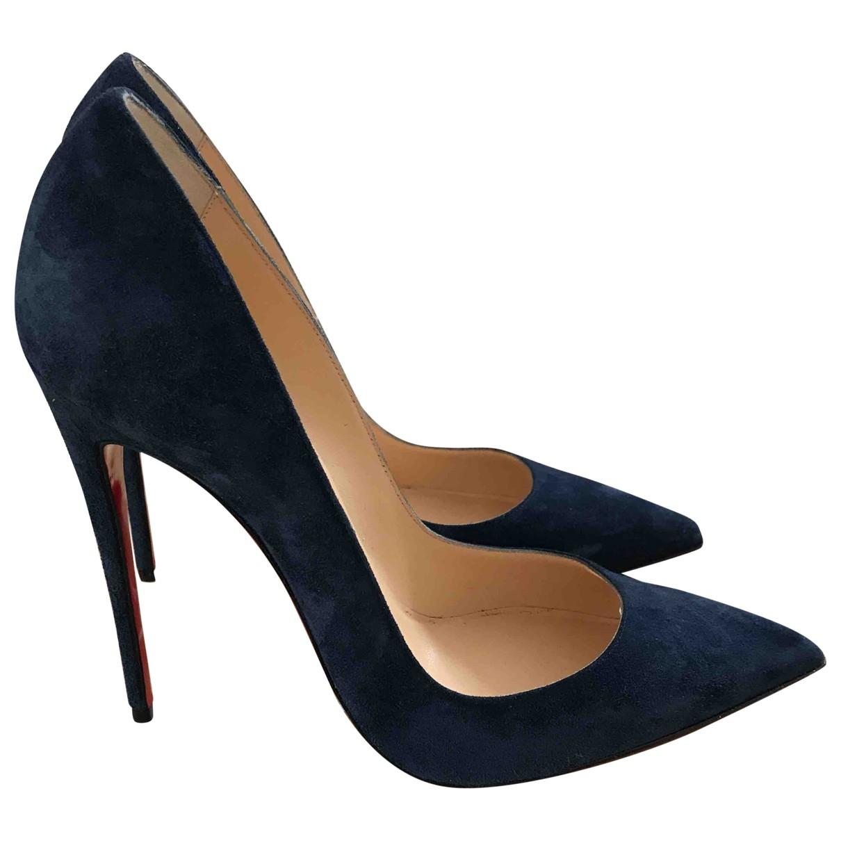 Christian Louboutin So Kate  Blue Suede Heels for Women 39 EU