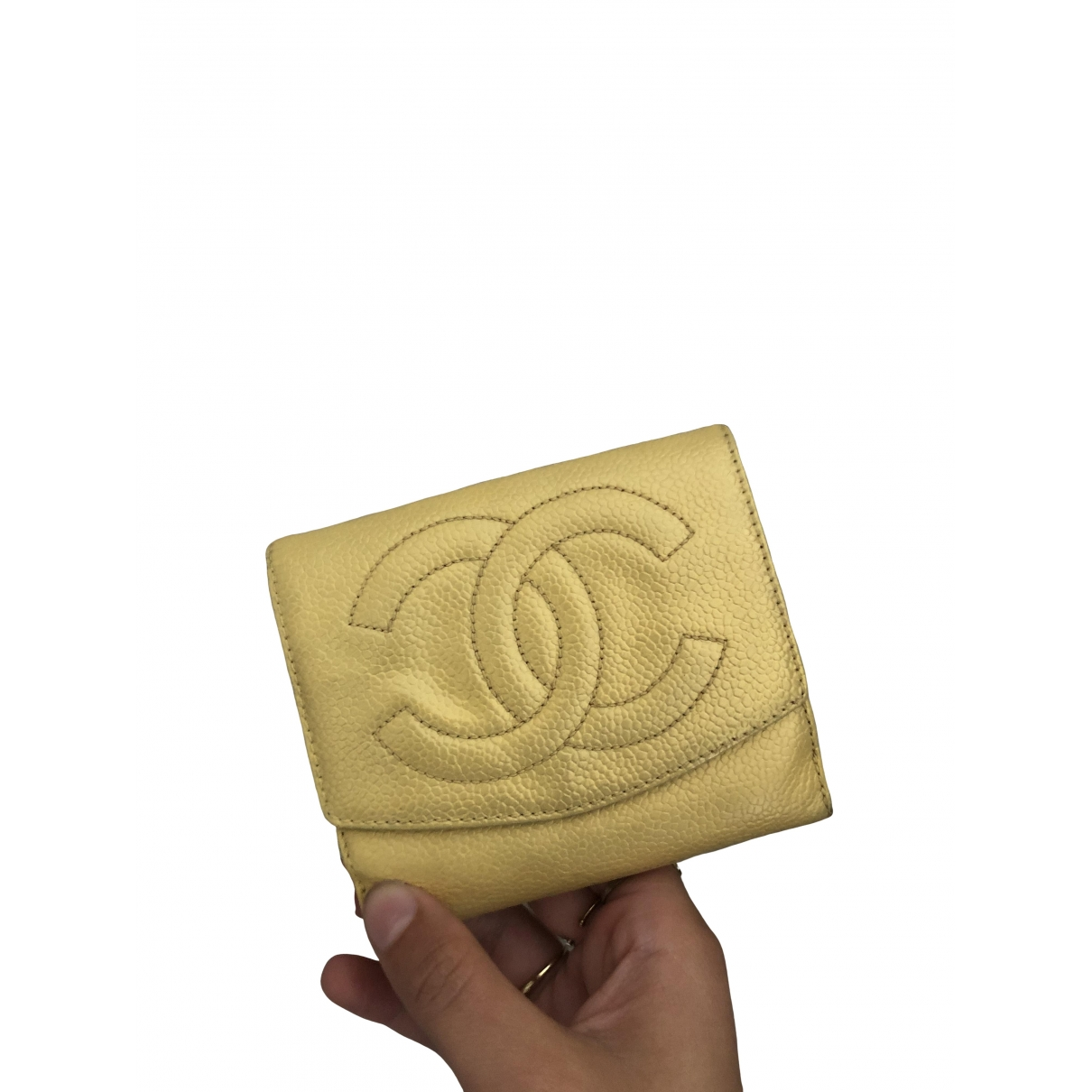 Chanel \N Gold Leather Purses, wallet & cases for Women \N
