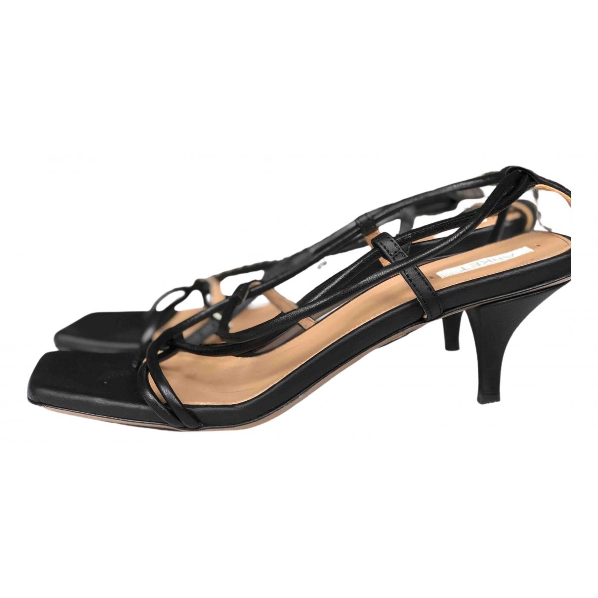 Arket N Black Leather Sandals for Women 38 EU