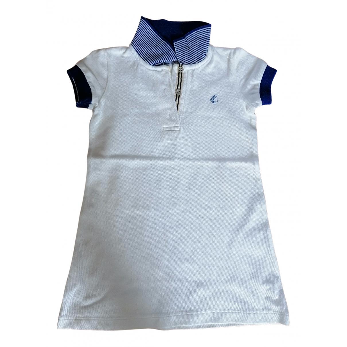 Petit Bateau \N Kleid in  Weiss Baumwolle