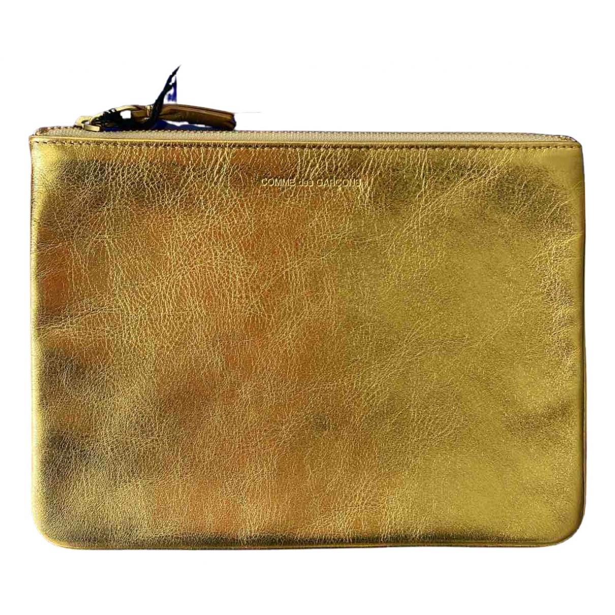 Comme Des Garcons \N Clutch in  Gold Leder