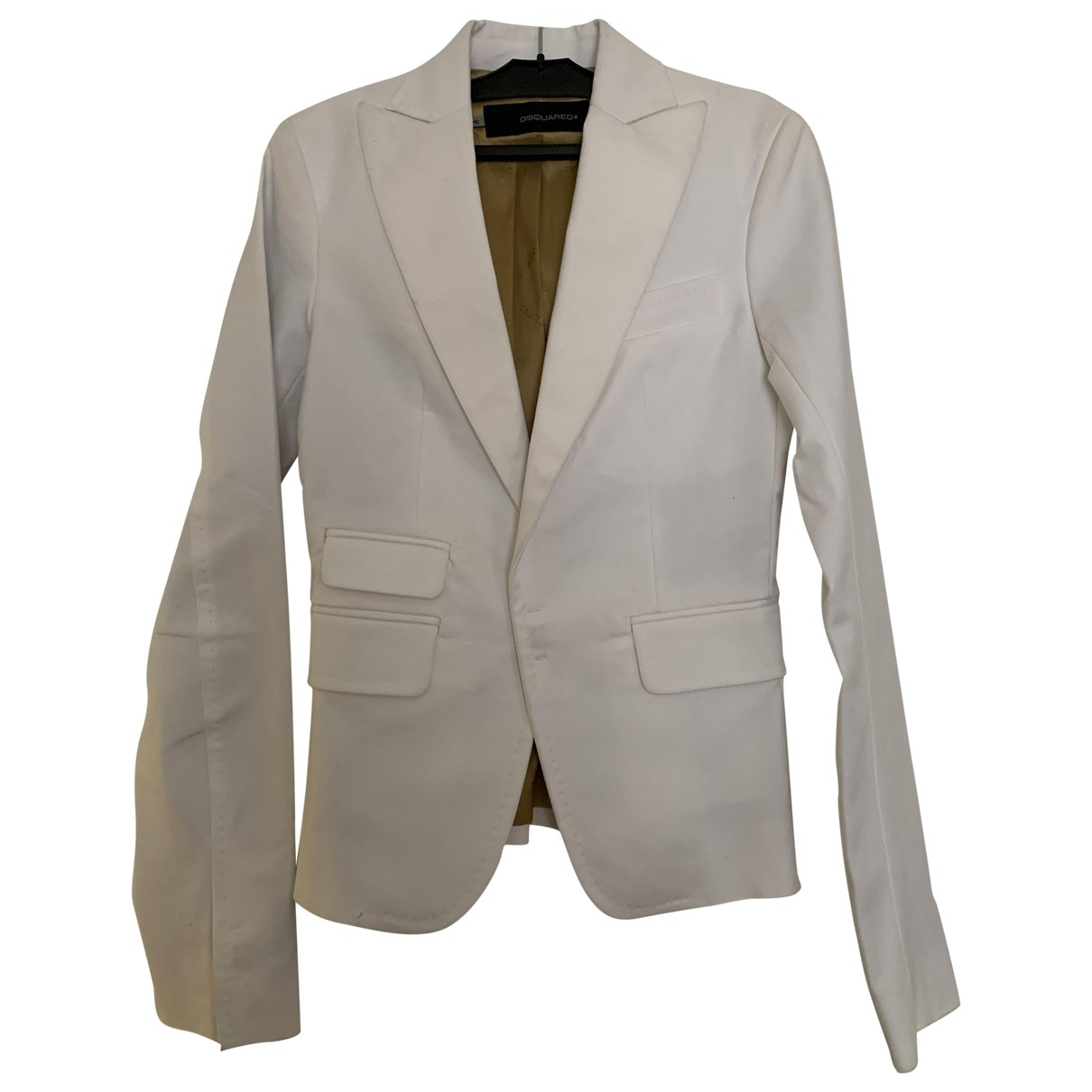 Dsquared2 \N White Cotton jacket for Women 40 IT