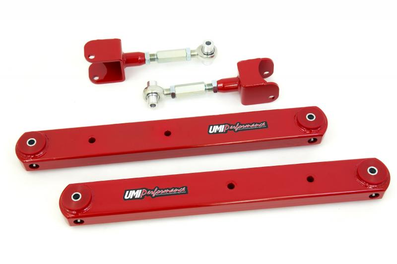 UMI Performance 402117-R 1968-1972 GM A-Body Rear Control Arm Kit, Fully Boxed Lowers, Adjustable Uppers