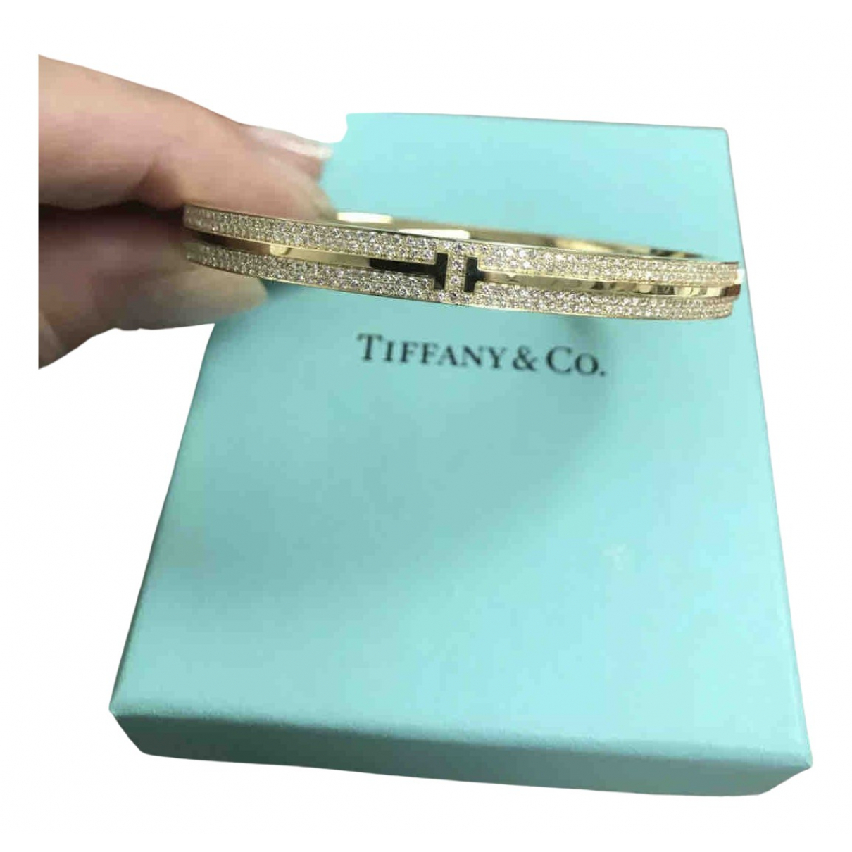 Tiffany & Co - Bracelet Tiffany T pour femme en or rose - dore