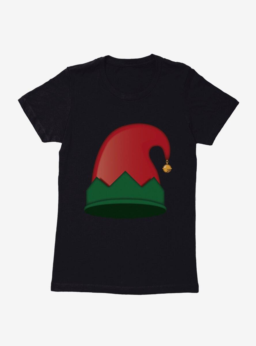 Emoji Holiday Icons Elf Hat Womens T-Shirt