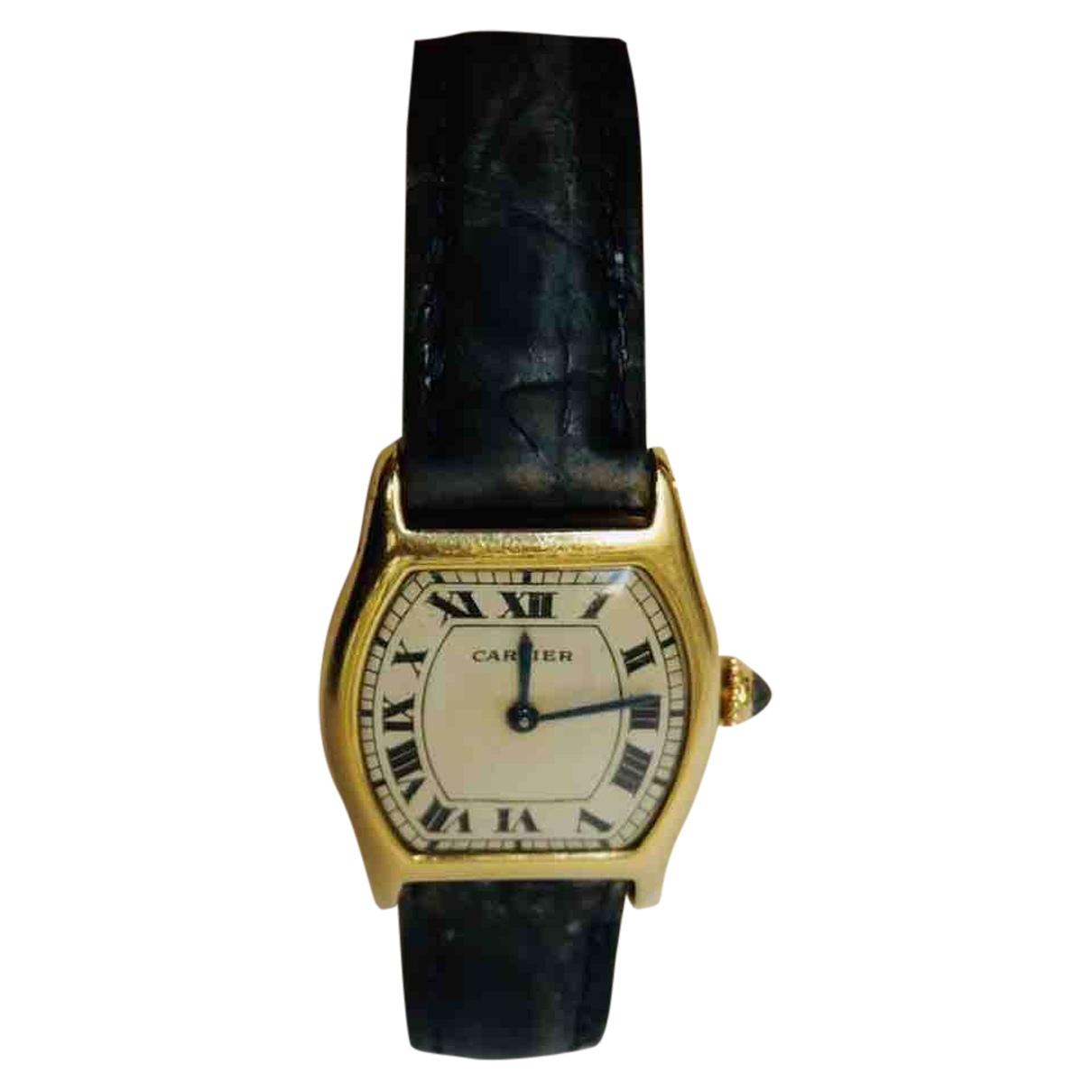 Reloj Tortue de Oro amarillo Cartier