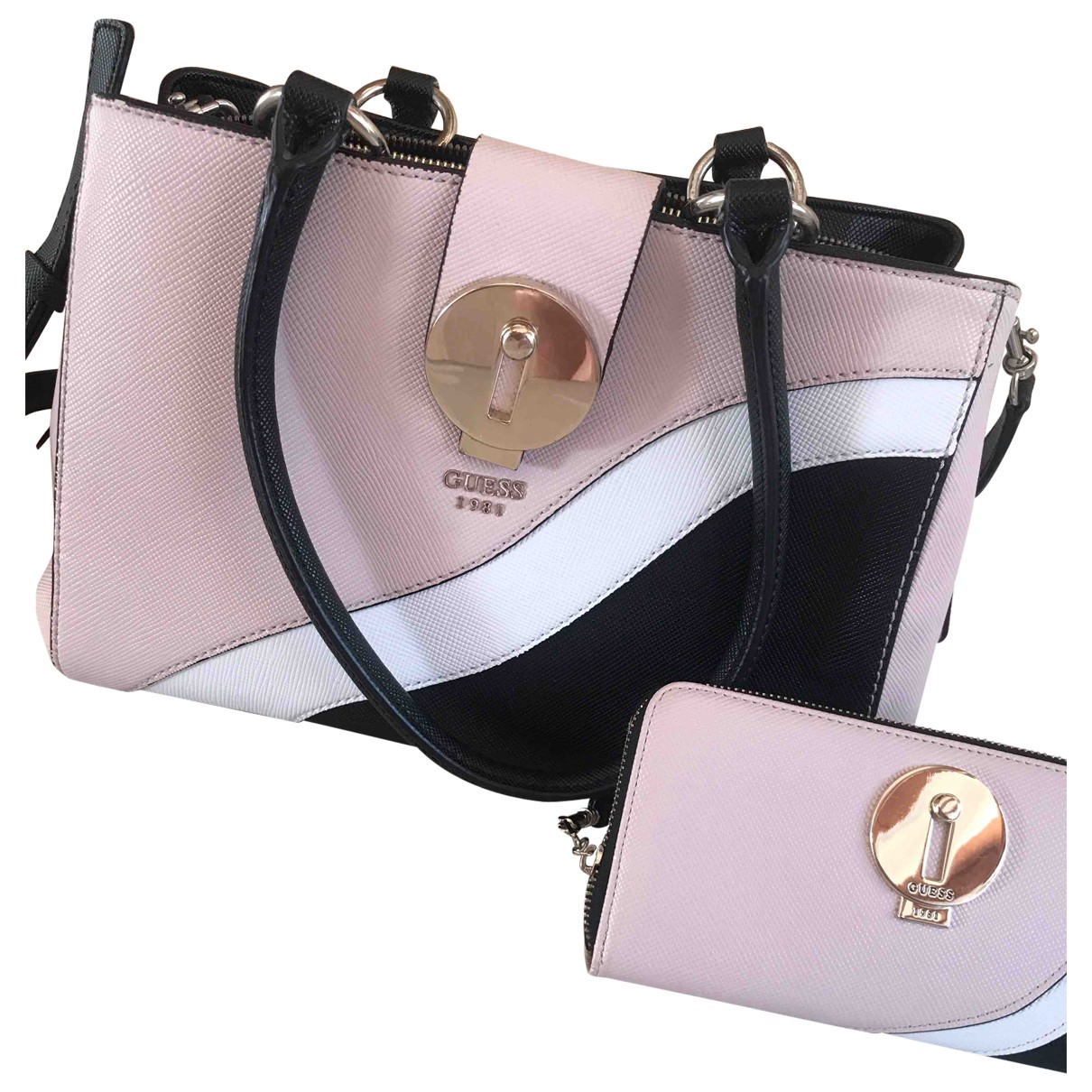 Guess \N Pink Leather handbag for Women \N