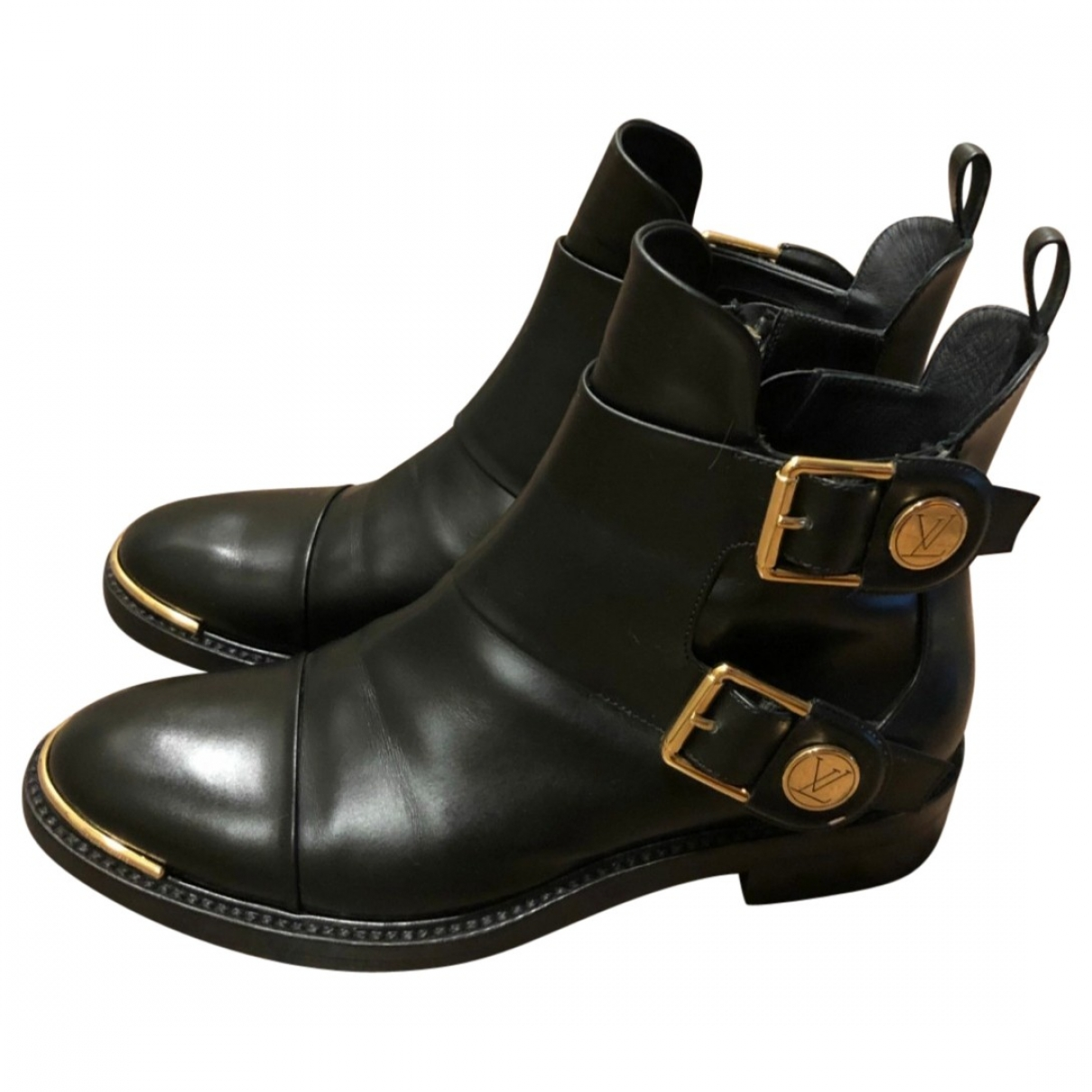 Louis Vuitton \N Stiefeletten in  Schwarz Leder