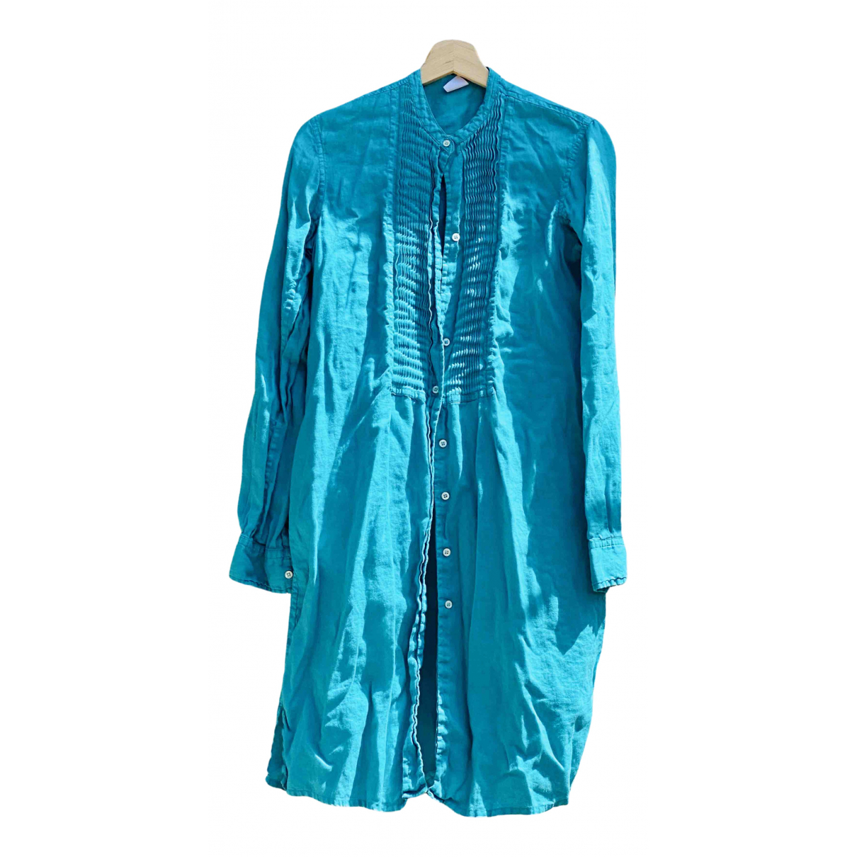 Aspesi \N Kleid in  Tuerkis Leinen